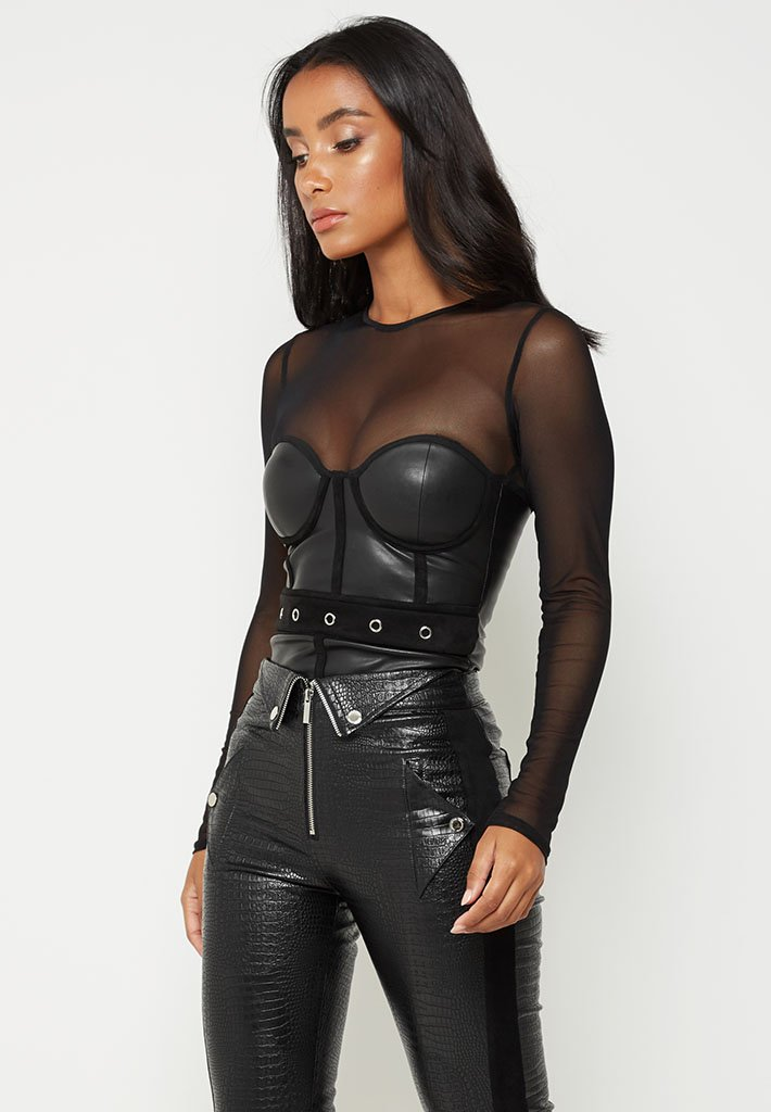 long-sleeve-mesh-bustier-bodysuit-black