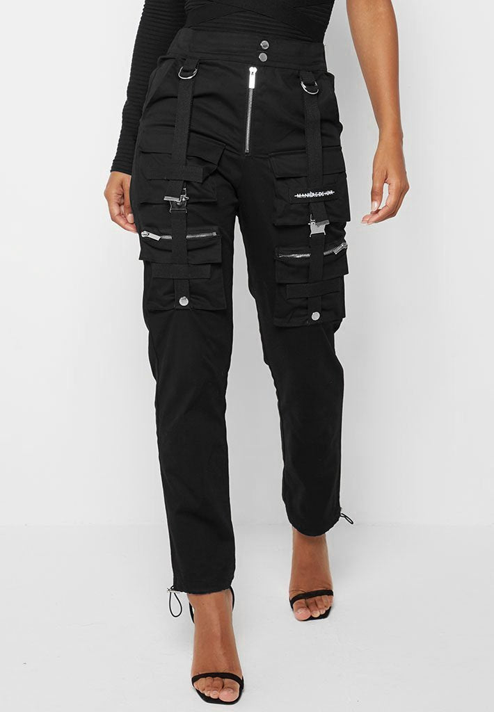 cargo-buckle-detail-trousers-black