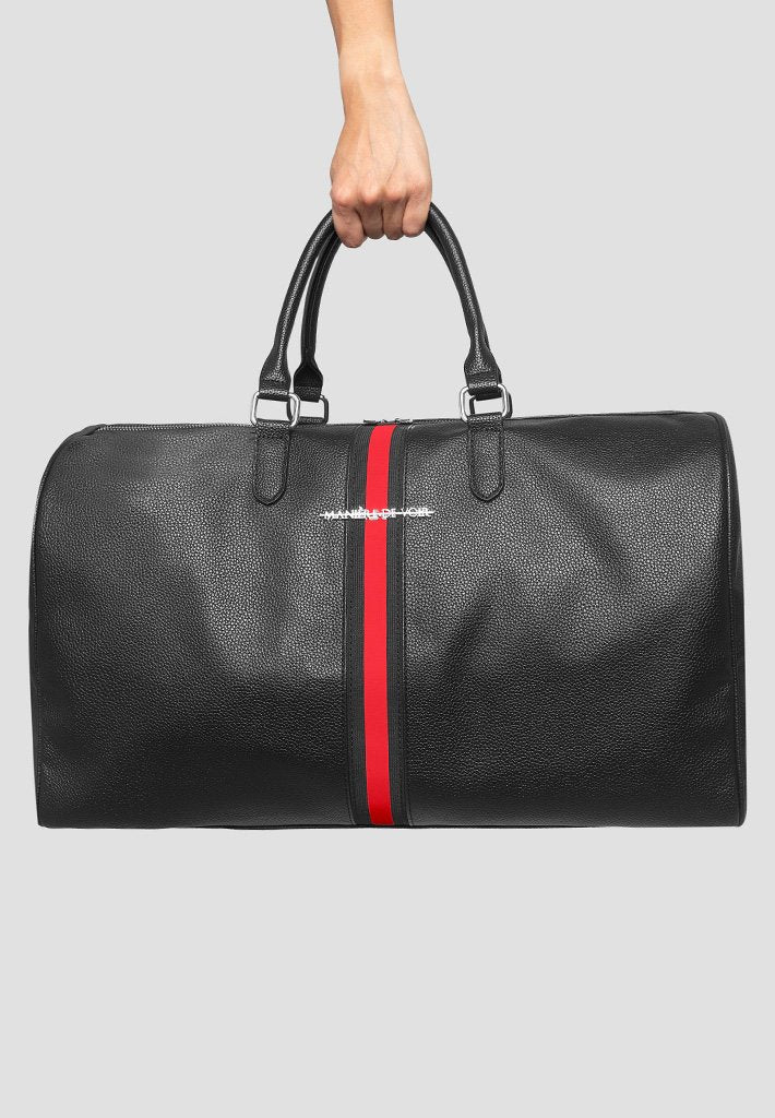 vegan-leather-travel-bag-with-striped-tape-black-red