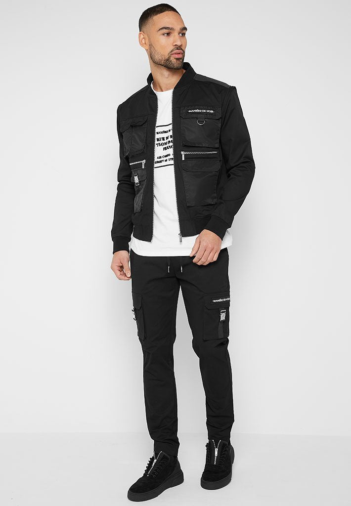 cargo-military-bomber-jacket-with-zip-off-sleeves-black