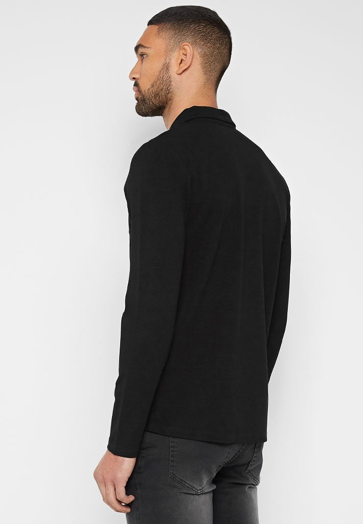 long-sleeve-polo-top-black