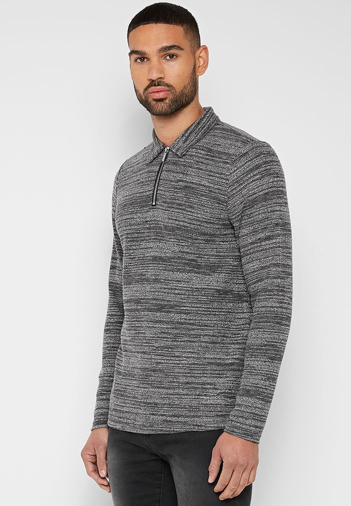long-sleeve-textured-polo-top-grey