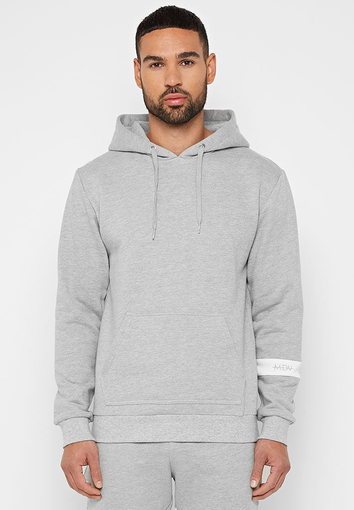 Single Stripe Tracksuit Hoodie - Grey