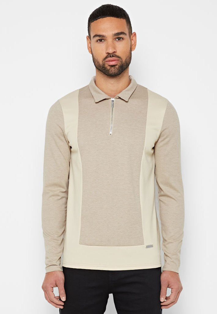 long-sleeve-colour-block-polo-top-beige
