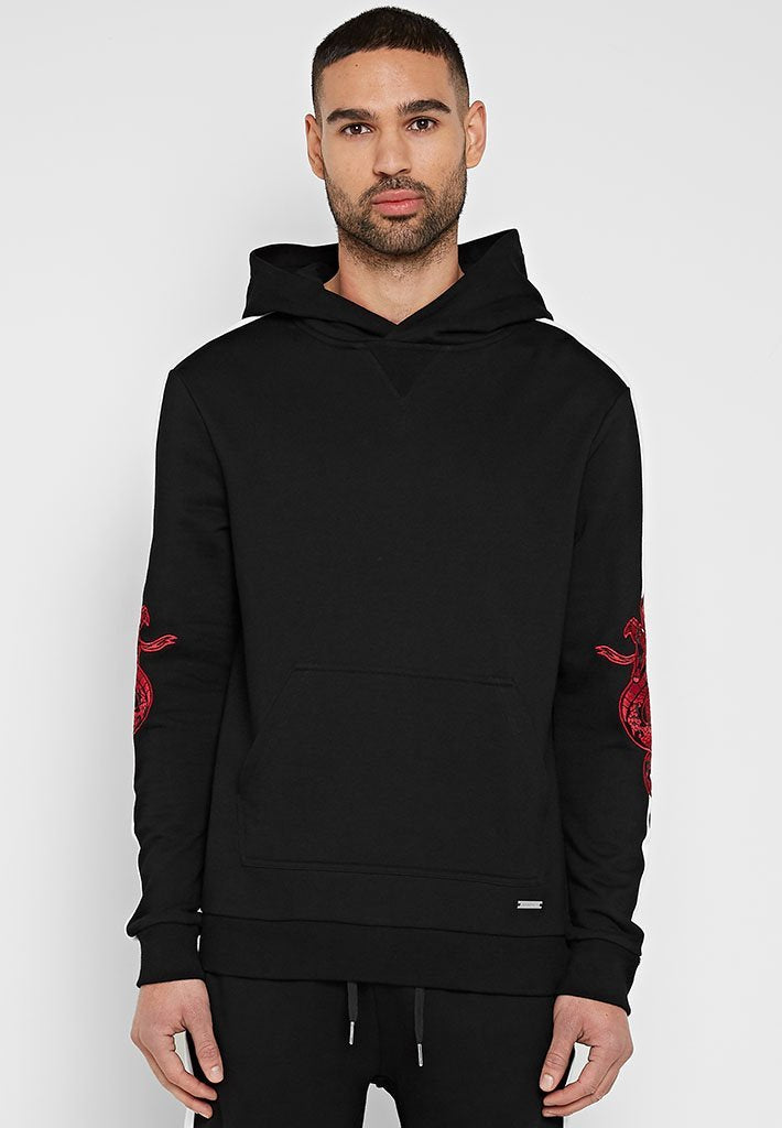snake-embroidered-tracksuit-hoodie-black