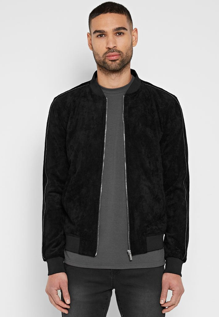 suede-bomber-with-leather-piping-black