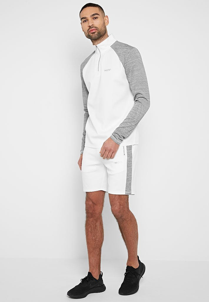 textured-sleeve-sports-luxe-half-zip-pullover-white