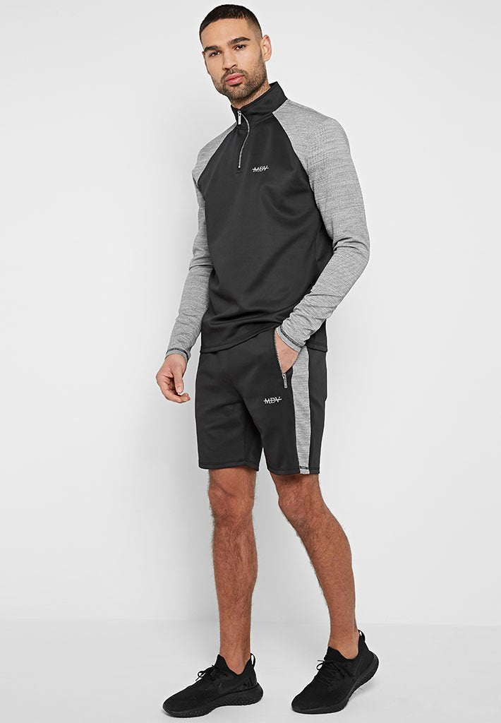 textured-stripe-sports-luxe-shorts-black