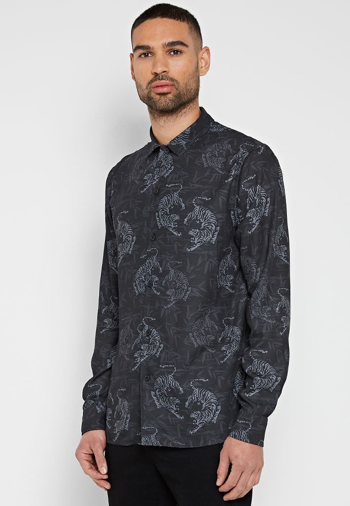 tiger-printed-hawaiian-shirt-black