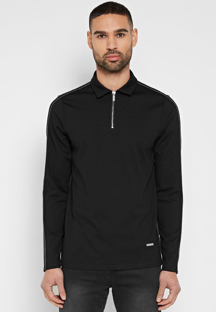two-tone-polo-top-black-charcoal