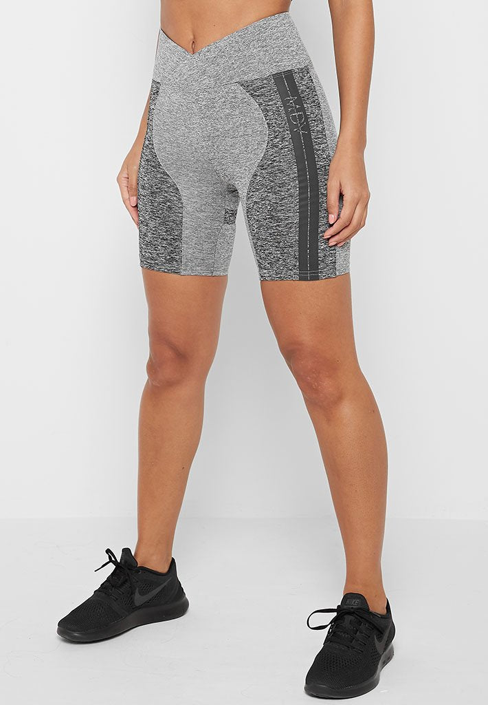Cycling Shorts with Reflective Taping - Grey Marl
