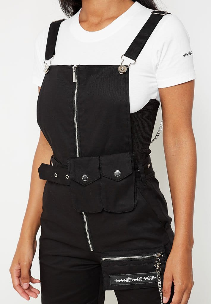 cargo-dungarees-with-chain-black