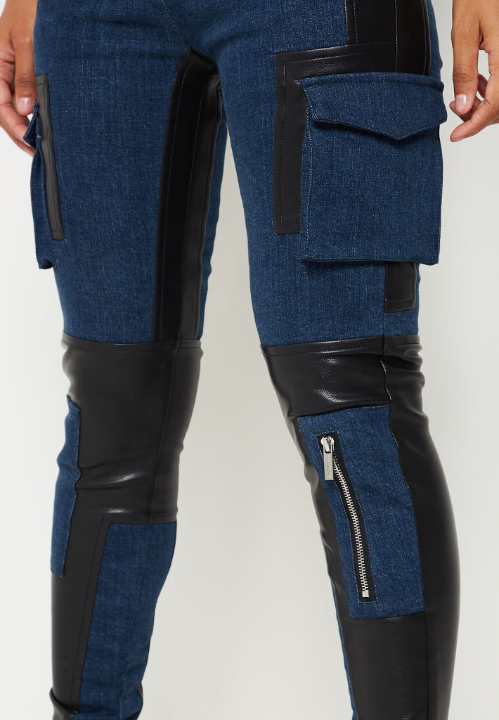 vegan-leather-cargo-skinny-jeans-black-indigo
