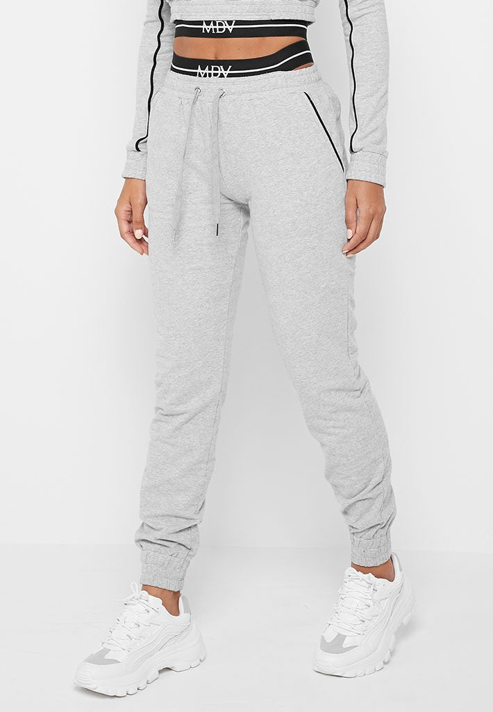 MDV Banded Tracksuit Joggers - Grey