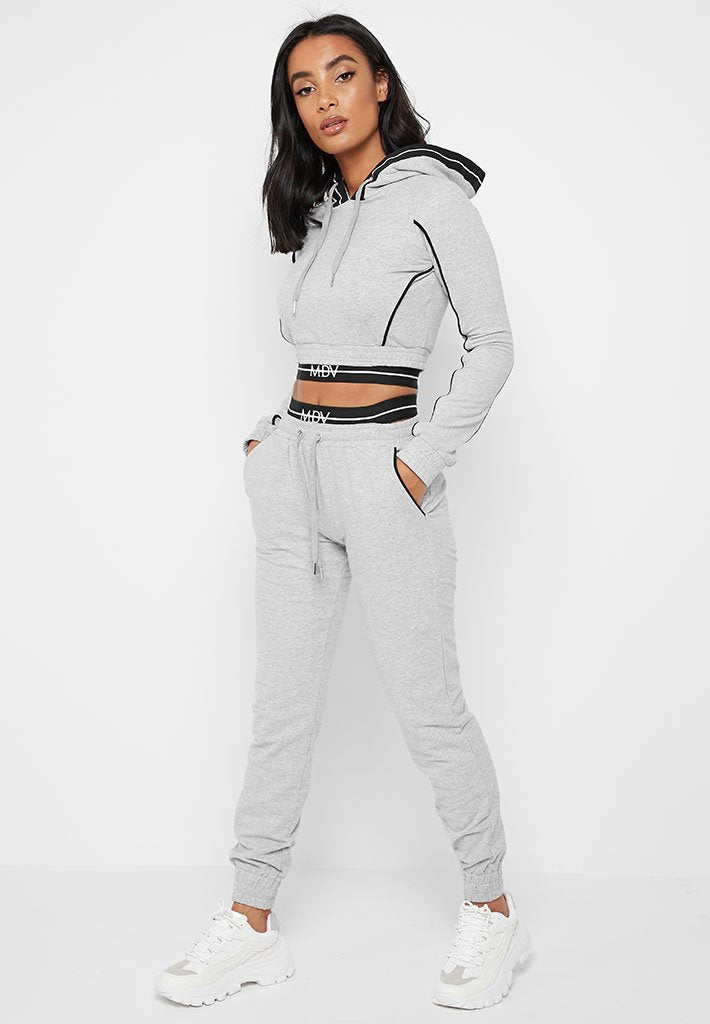 MDV Banded Tracksuit Hoodie - Grey