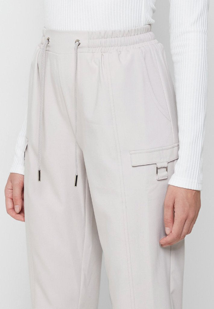 Tailored Cargo Joggers - Stone