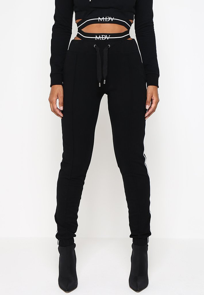 cut-out-waistband-mdv-tracksuit-joggers-black