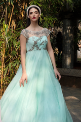 Mint Organza Long Dress