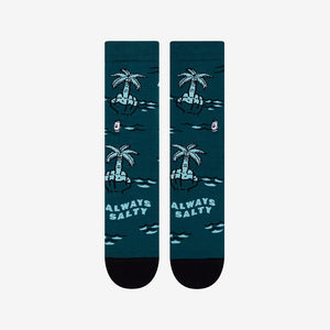 Palm tree print socks for men