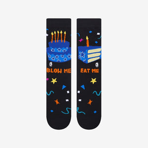 Load image into Gallery viewer, Funny birthday cake socks