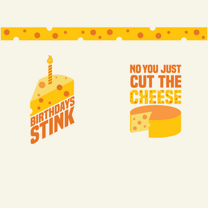 Funny cheese birthday socks