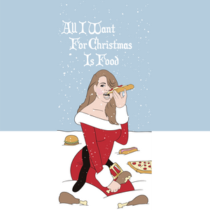 Pizza Print Holiday Socks
