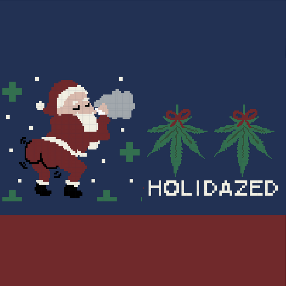 Load image into Gallery viewer, Funny Weed Santa Socks