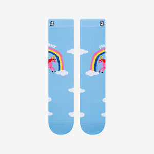 Load image into Gallery viewer, Cute Rainbow Hilarious Fly the Sky Crew Socks for Her