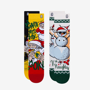 Load image into Gallery viewer, Naughty Nice Holiday socks