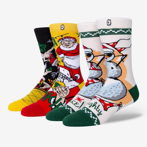 Holiday naughty nice socks