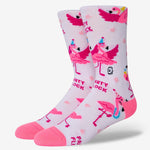 Funny flamingo socks for women