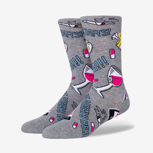Load image into Gallery viewer, Women's wine print socks