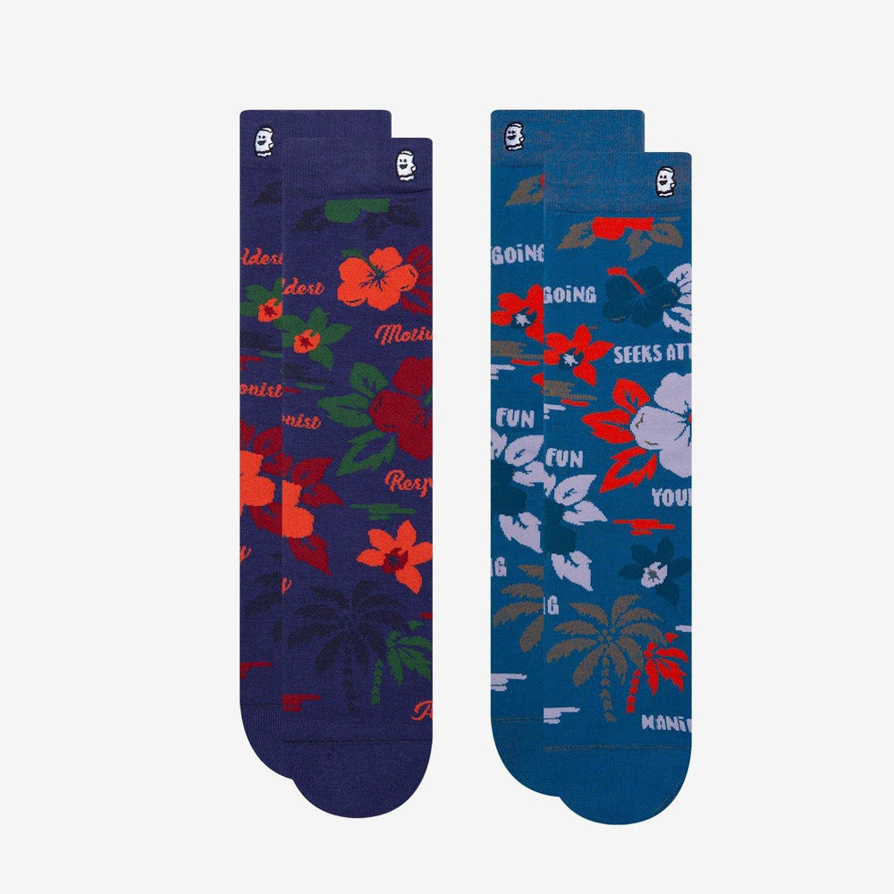 Floral Socks 2 Pack For Men
