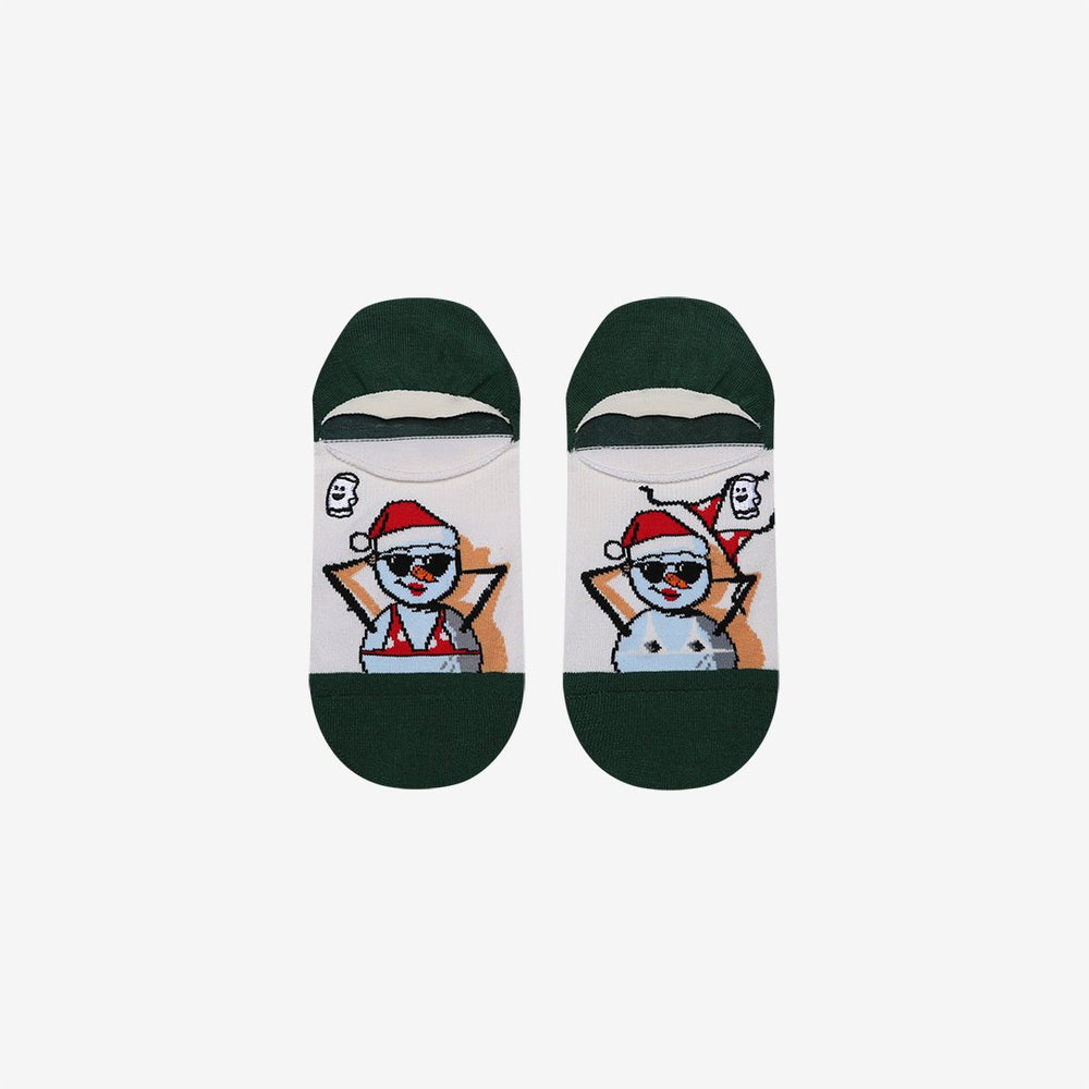 Funny Snowman Holiday Socks