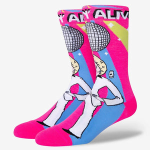 Funny betty white disco socks