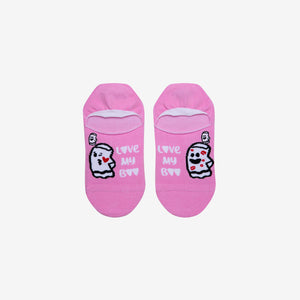 Load image into Gallery viewer, bae love pink ankle socks