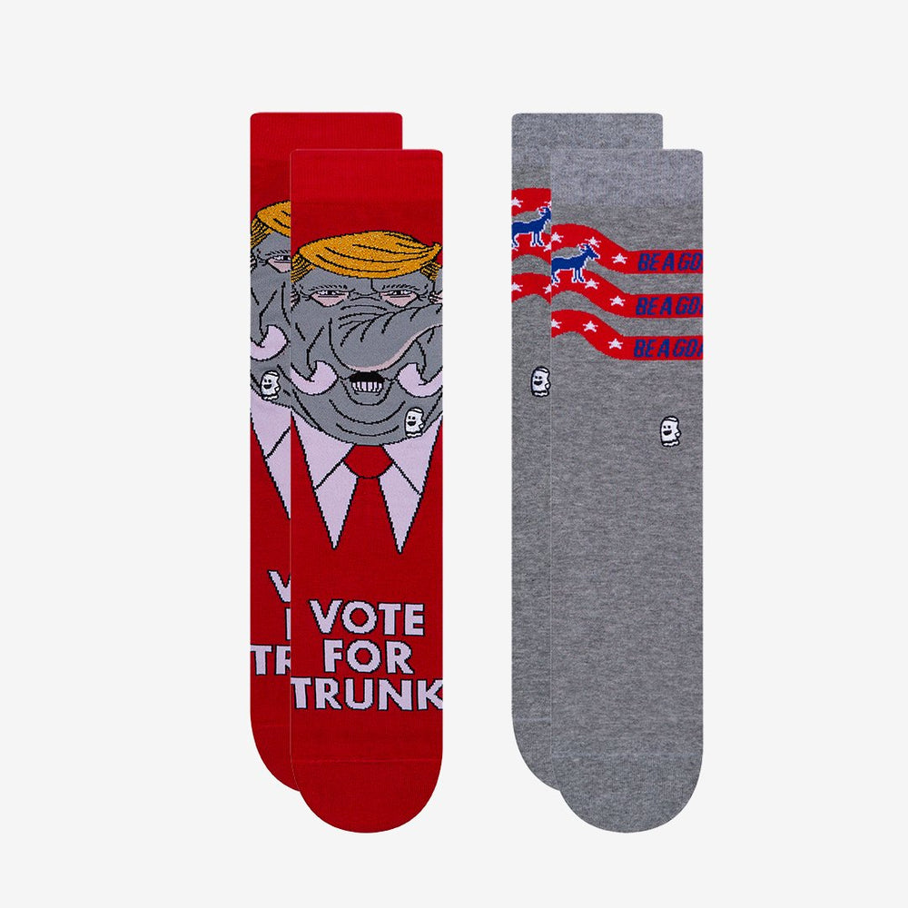 Load image into Gallery viewer, Vote For Trunk (2 Pack) - BOOSOCKI