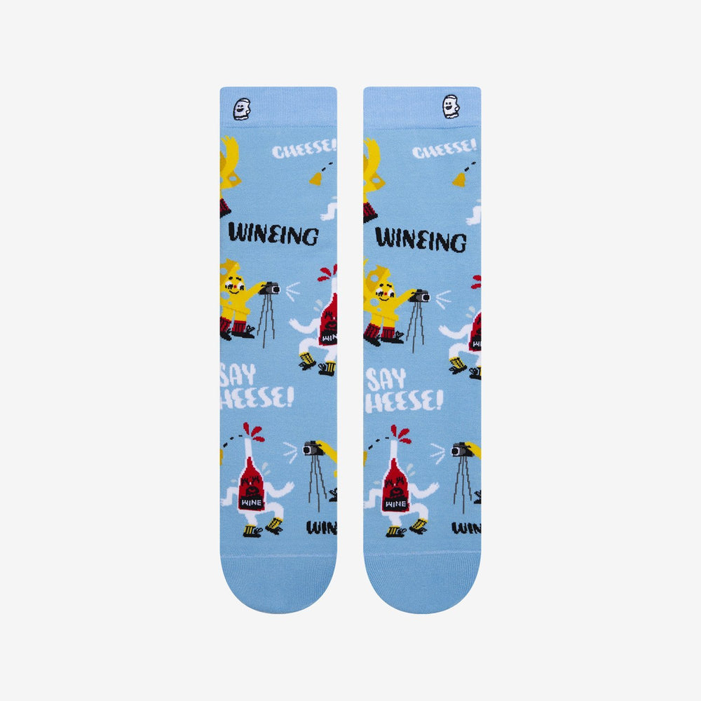 Load image into Gallery viewer, Hilarious wine and cheese socks