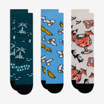 tropical print socks 3 pack