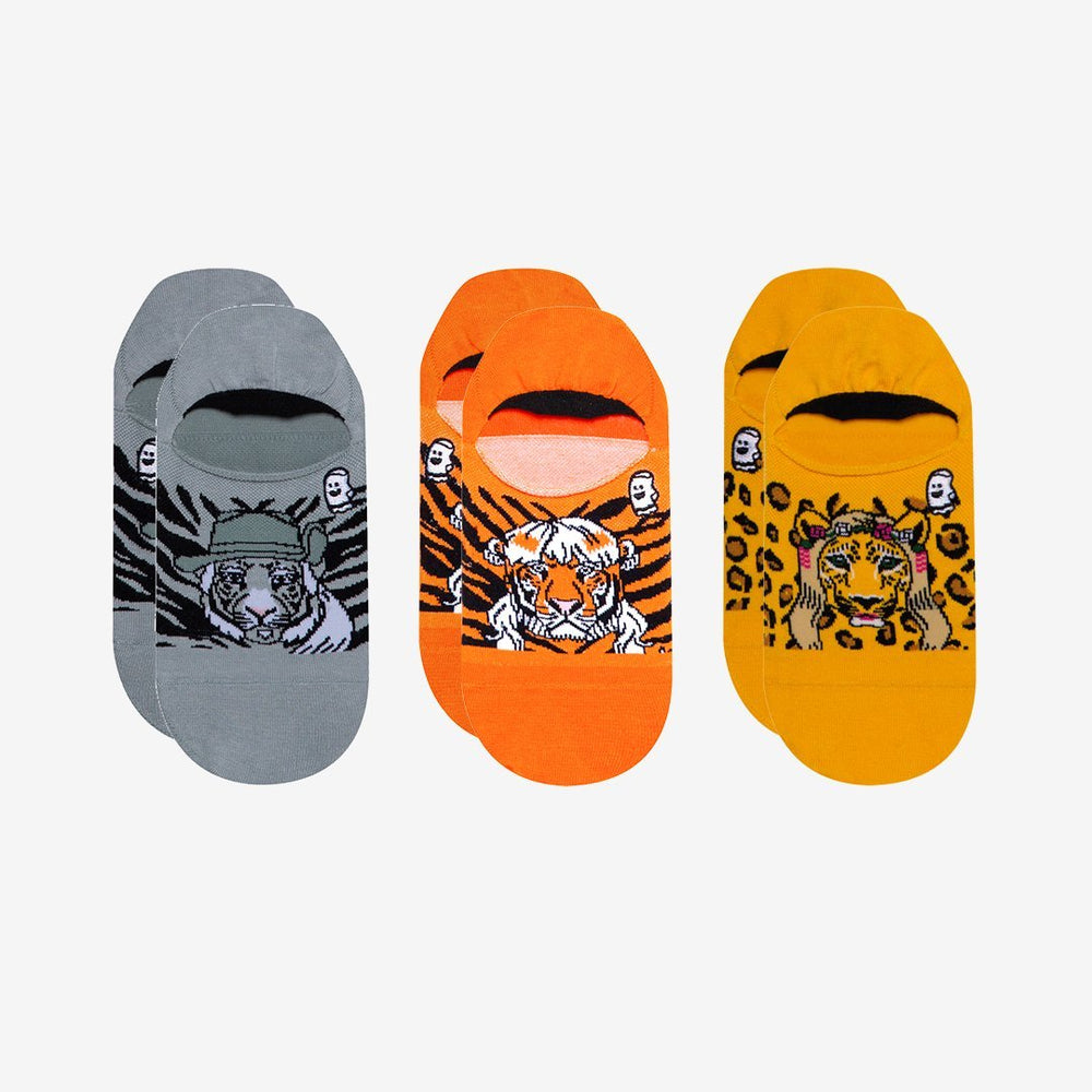 Tiger King Print No Show Socks