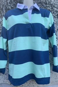 Rugby Jumper - Sailor Blue & Mint