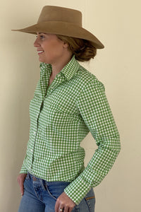 Green Gingham Plain Jane