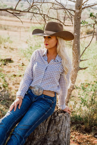Grey Gingham Plain Jane