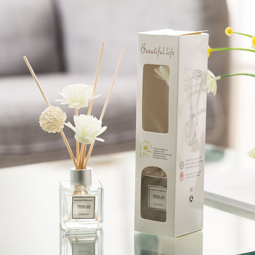 Aromatherapy Jasmine Essential Oil Reed Diffuser 3 Piece Se
