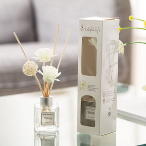 Aromatherapy Rose Essential Oil Reed Diffuser 3 Piece Set
