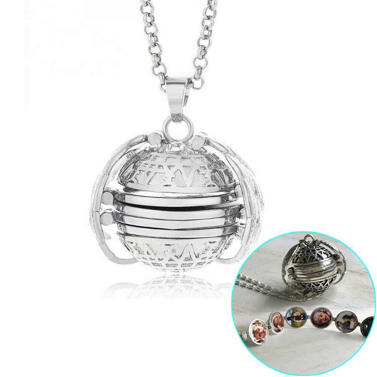 Angel Wings Album Locket- Silver plated