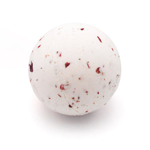 Organic Bath Bomb with Rose Petals and Jasmine Essential Oils