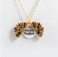 Load image into Gallery viewer, Brass Bohimia Sunflower double layer Pendant