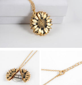 Brass Bohimia Sunflower double layer Pendant
