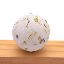 Load image into Gallery viewer, Organic bath bomb with Lavender petals and Lavender Essential Oils